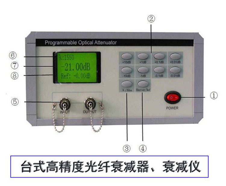 台式可调光衰减器 0至65dB 连续可调 高可靠高稳定性
